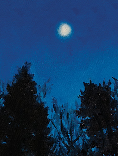 Greeting Card - Early Moon