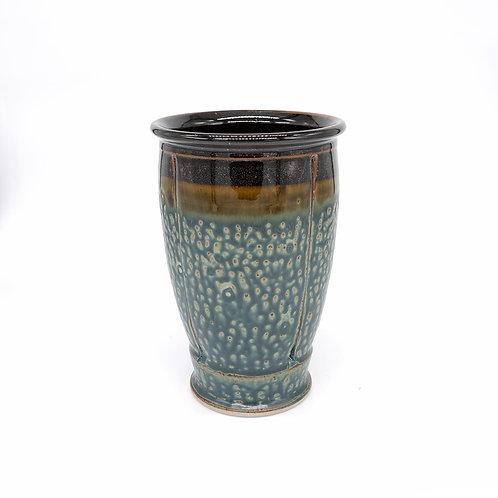 Vase/Utensil Holder in Black l Ash glaze