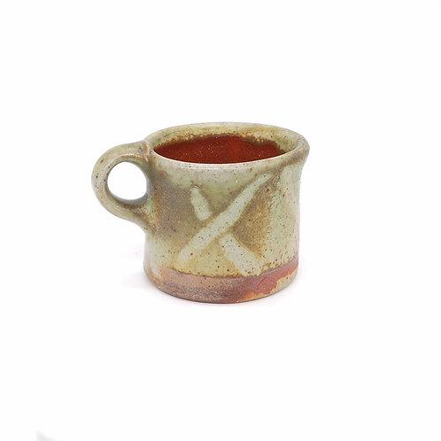 Espresso Mug - Reds and Grays with X