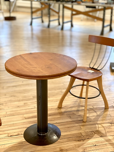 Cherry Cafe Table with metal base