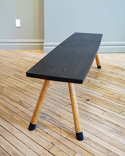 Blackened Wood Table/Bench