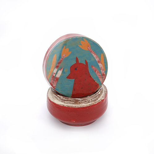Red Fox Lidded Box