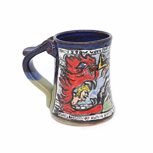 Hell-mouth and the white horse of the apocalypse mug