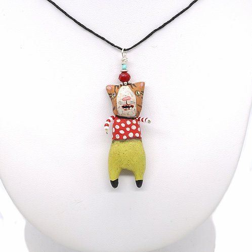 Striped Cat Necklace