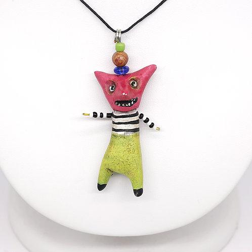 Pink Face Weirdo Necklace