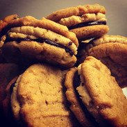Peanut butter chocolate sandwiche cookie