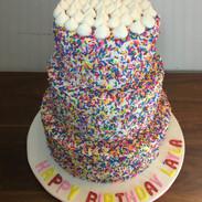 Confetti buttercream cake