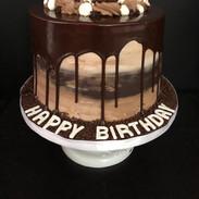 Chocolate dripping cake