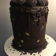 Ganache dripping cake