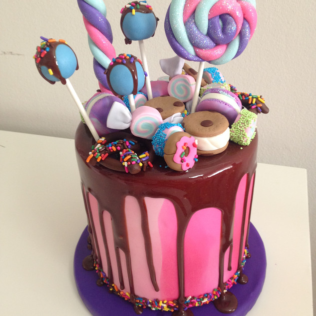 Candy Dripping Cake