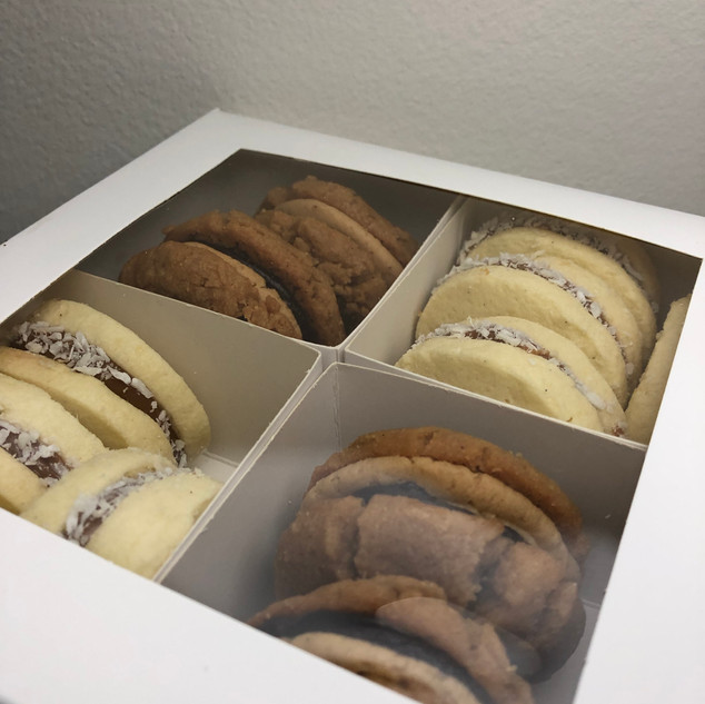 Box of sandwich cookies