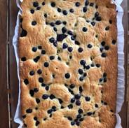 Blueberry corn cake