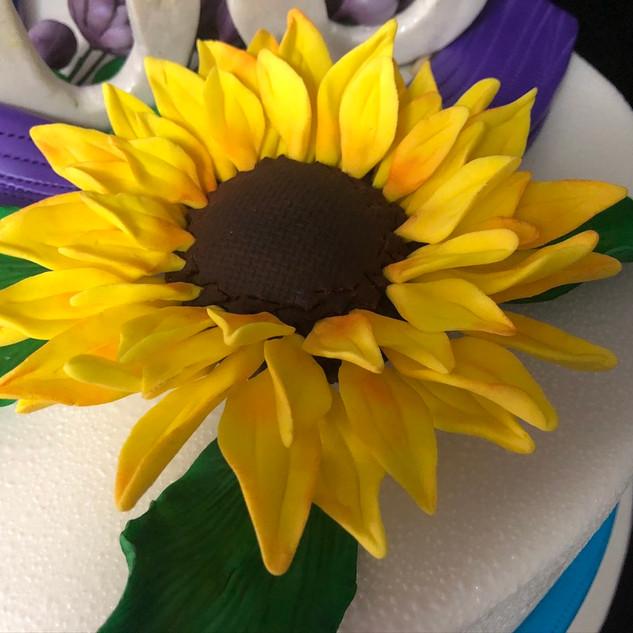 JiuJitsu cake sunflower