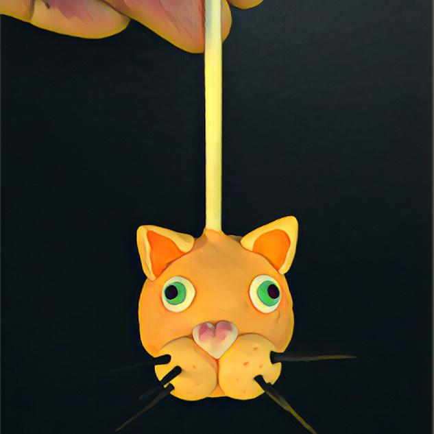 Cat cake pop