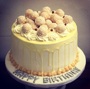 Coconut white chocolate dripping Cake