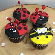 Lady Bug and Bee Cupcake