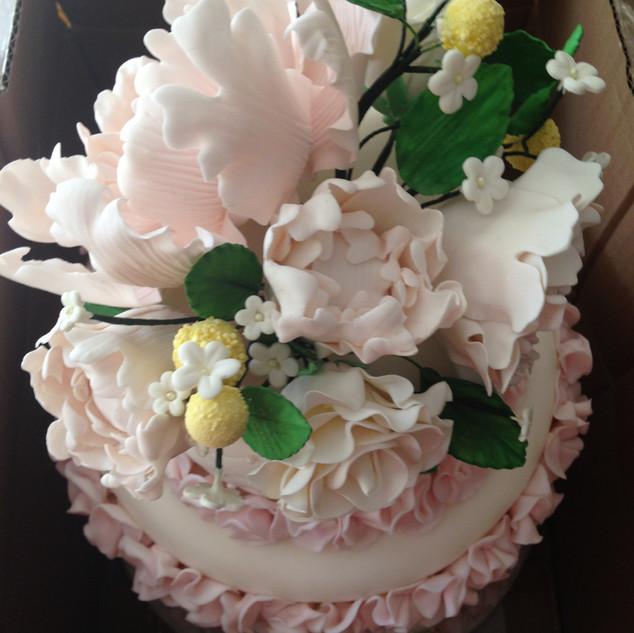 Peony Ruffle Cake