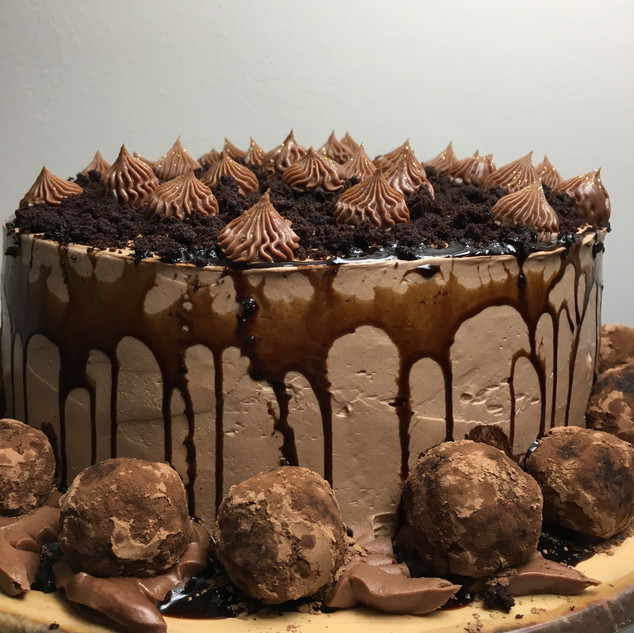 Rum ball Chocolate Cake