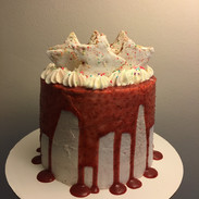 Strawberry pop tart dripping cake