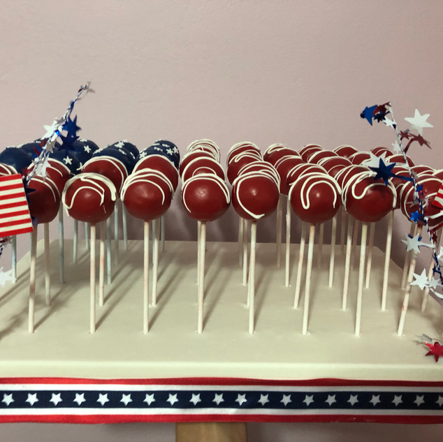 4th of July cake pop