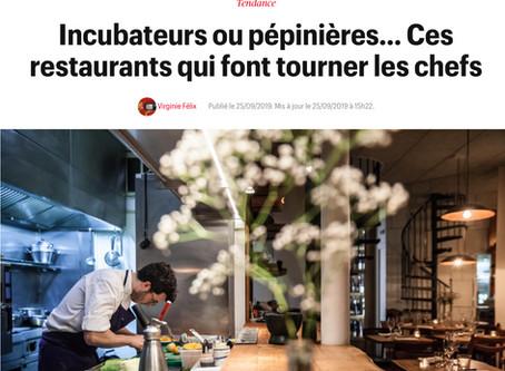 """Télérama : """"Ces restaurants qui font tourner les chefs"""""""