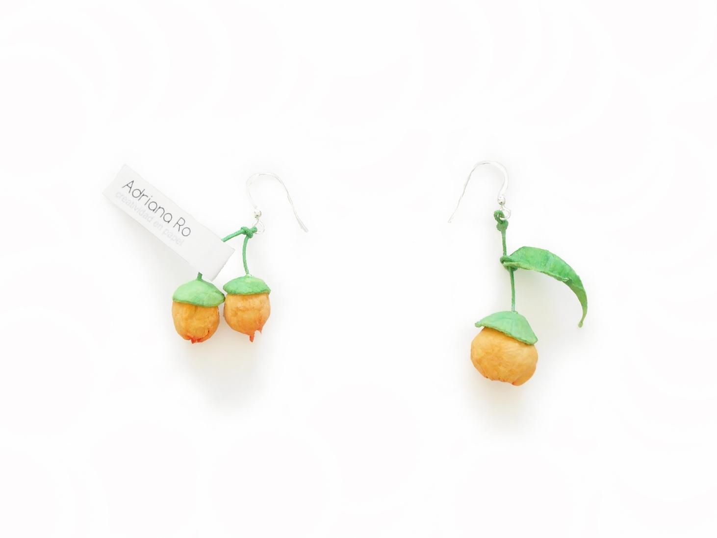 pendientes-bolita-naranja