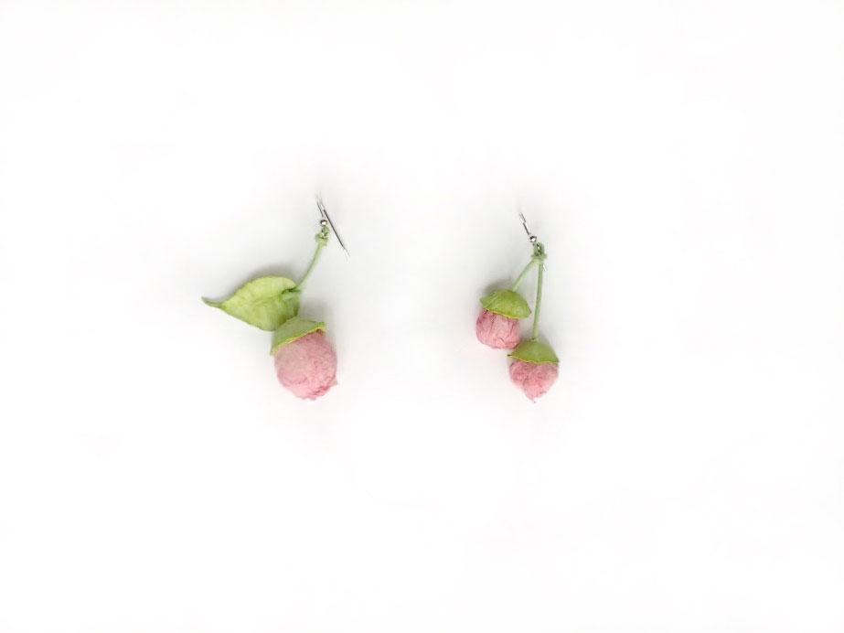 pendientes-brote-rosa