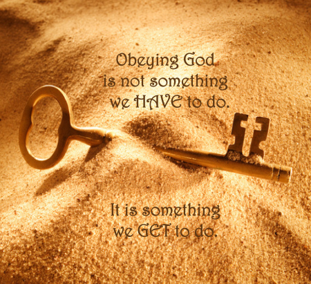 We get to obey God