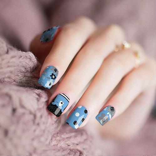 Razzle Blue Nail Wraps