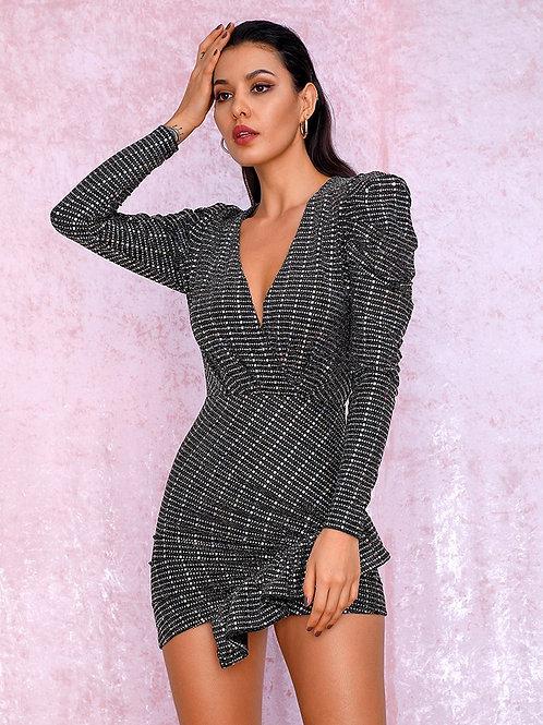 Jenica Long Sleeve Party Dress