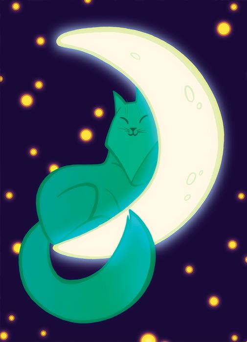 Полумесячная кошка
