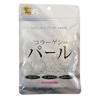 Japan Gals Натуральные маски для лица с экстрактом жемчуга 7шт