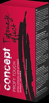 Concept, Крем-краска для бровей с эффектом татуажа, черный, 30/20 мл
