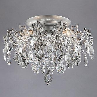 Люстра Bogate's Wonderful хрустальная белый хром 5 рожков