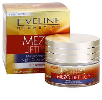 EVELINE MEZO LIFTING мультирегенерирующий ночной крем-сыворотка 40+ 50мл