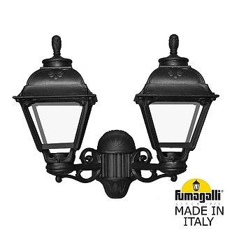 Fumagalli Настенный фонарь уличный Cefa U23.141.000.AXF1R черный глянцевый