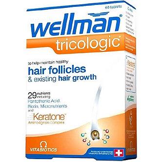 Велмен Трихолоджик - Для роста и питания волос у Мужчин, 1045 мг, 60 таблеток