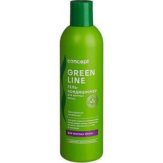 Concept гель-кондиционер Green Line Sebo-balance для жирных волос, 300 мл