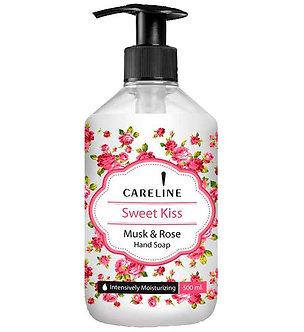 """Careline Жидкое мыло для рук """"Поцелуй"""" с ароматом Мускуса и Розы, 500мл"""
