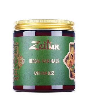 Zeitun Фито-маска против выпадения волос. С грязью Мертвого моря и амлой.