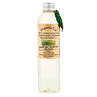 Organic Tai Масло для тела и аромамассажа «ЛЕМОНГРАСС, ЖОЖОБА И ПЕРСИК», 260 мл