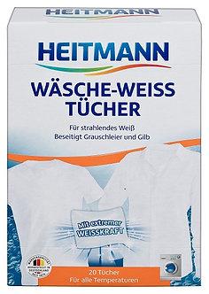 Салфетки для стирки белого белья HEITMANN 20 шт