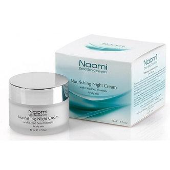 Naomi Крем питательный Ночной для лица с минералами Мертвого моря для сухой кожи