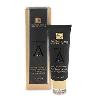 Маска-пленка Health Beauty черная для очистки кожи с углем и Гиалуроновой кисл-й