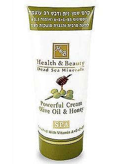 Крем Health and Beauty интенсивный на основе оливкового масла и меда