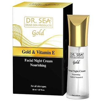 DR. SEA Питательный ночной крем для лица с Золотом и витамином Е