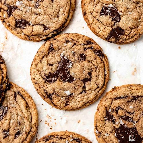 Sea Salt Oatmeal Chocolate Chip Tahini Cookie