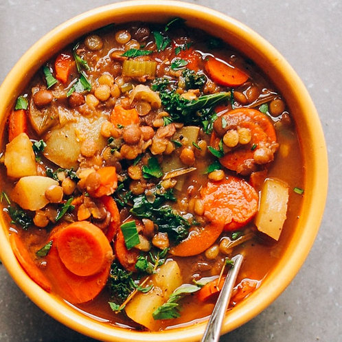 Lentil Vegetable Soup | Pint
