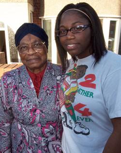 Grandma & Nicole (Granddaughter)2009