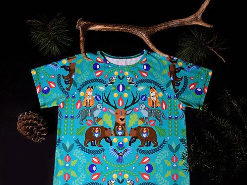 Tričko tyrkysové s krátkým rukávem
